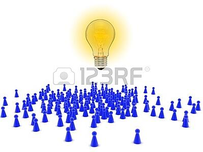 8532336-crowd-of-figures-with-light-bulb--crowd-sourcing-concept