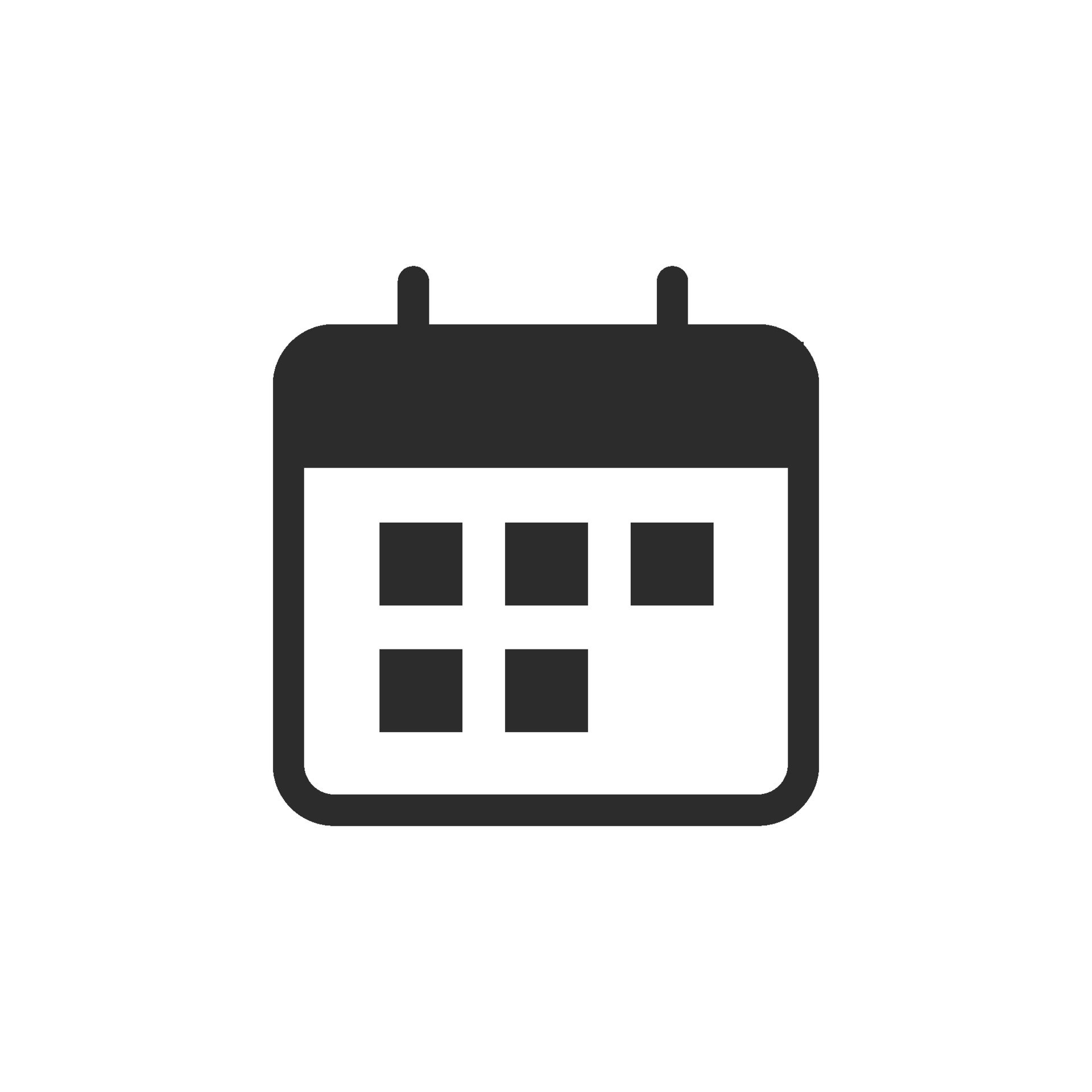 calendar-icon-flat-style-isolated-on-white-background-free-vector